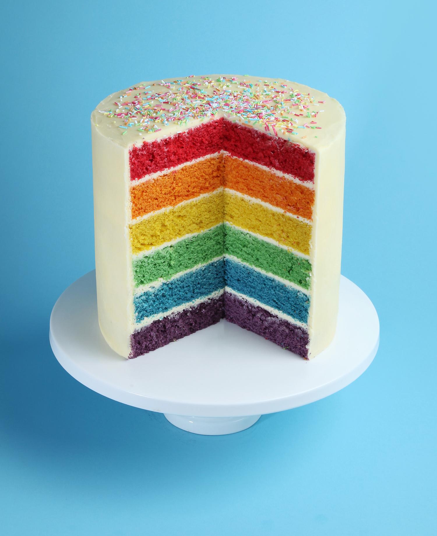 Rainbow Cake Recipe Uk