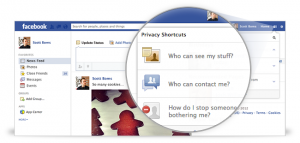 To change your privacy settings, you need to click on the little padlock icon in the top right corner.